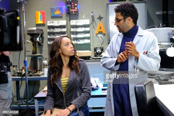 Pictured LR Amber Stevens West and Adeel Akhtar in the 'Succubus' episode of GHOSTED airing Sunday Oct 15 on FOX
