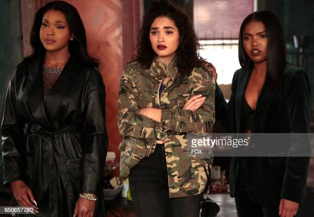 Pictured LR Amiyah Scott Brittany O'Grady and Ryan Destiny in the 'Infamous' episode of STAR airing Wednesday Feb 1 on FOX
