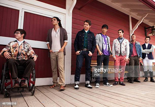 """Artie , Joe , Rory , Mike , Blaine , Puck and Kurt say goodbye to Rachel as she heads to New York in the """"Goodbye"""" season finale episode of GLEE..."""