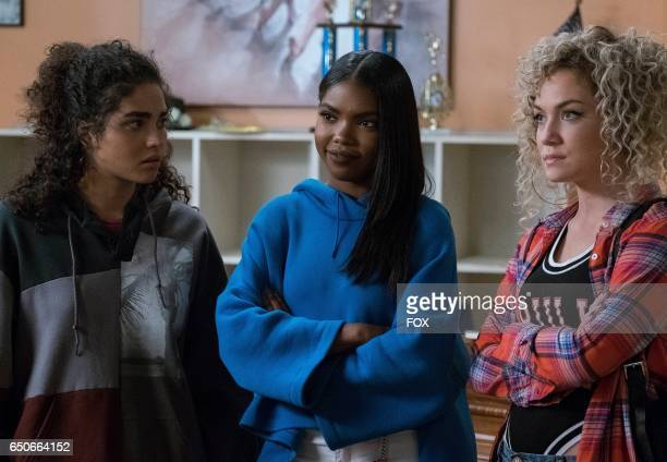 Pictured LR Brittany O'Grady Ryan Destiny and Jude Demorest in the 'Mama's Boy' episode of STAR airing Wednesday Feb 15 on FOX