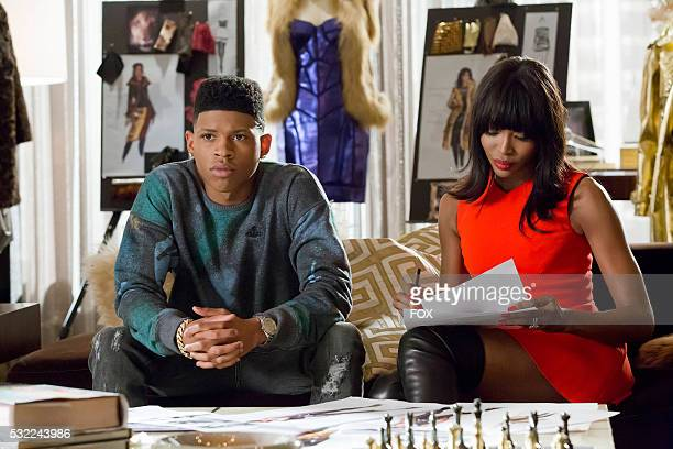 Pictured LR Bryshere Gray and guest star Naomi Campbell in the 'Death Will Have His Way' spring premiere episode of EMPIRE airing Wednesday March 30...