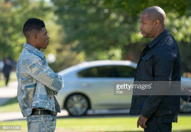 Pictured LR Bryshere Gray and Xhibit in the Cupid Painted Blind episode of EMPIRE airing Wednesday Dec 6 on FOX