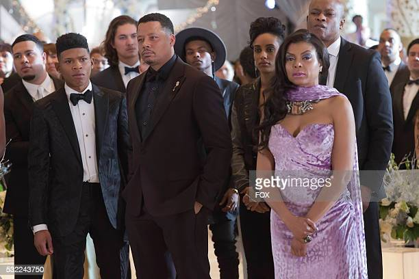 Pictured LR Bryshere Gray Terrence Howard AzMarie Livingston and Taraji P Henson in the 'Past is Prologue' season finale episode of EMPIRE airing...