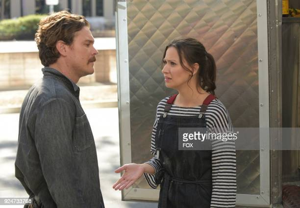 Pictured LR Clayne Crawford and guest star NAME in the Odd Couple episode of LETHAL WEAPON airing on FOX
