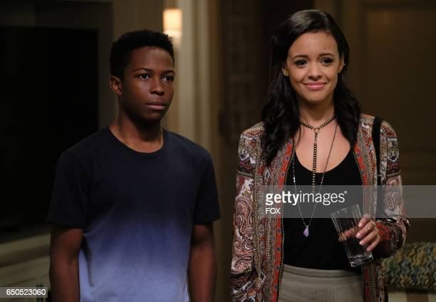 Pictured LR Dante Brown and guest star Aubrey Cleland in the 'Seal is Broken' episode of LETHAL WEAPON airing Wednesday Jan 25 on FOX