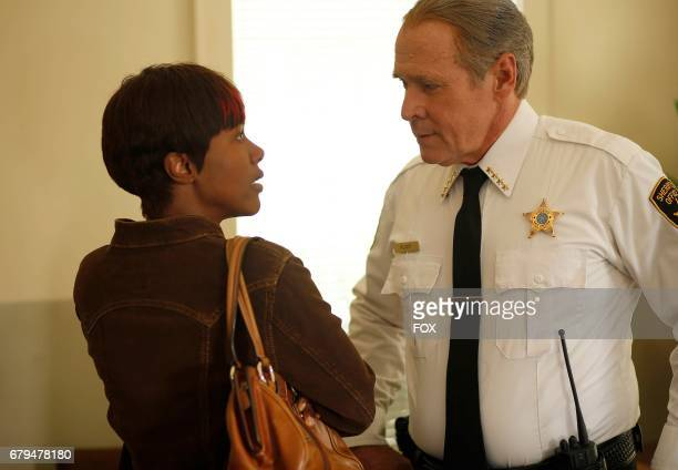 Pictured LR DeWanda Wise and Will Patton in the 'Hr 7 Content of Their Character' episode of SHOTS FIRED airing Wednesday May 3 on FOX