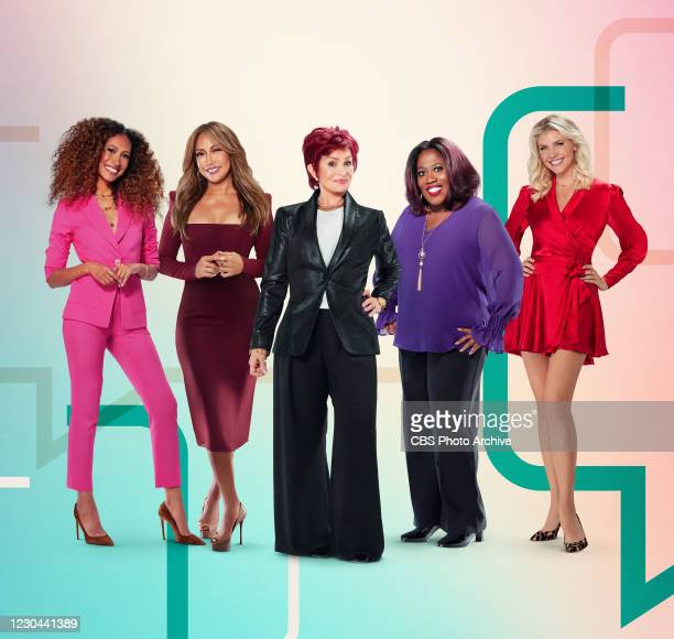 Pictured L-R: Elaine Welteroth, Carrie Ann Inaba, Sharon Osbourne, Sheryl Underwood and Amanda Kloots, hosts of the CBS series THE TALK, airing...