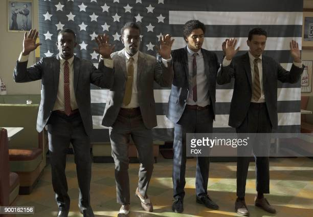 Pictured LR Elijah Kelley Luke James Quincy Brown and guest star Evan Ross in the 'Ghetto Symphony' episode of STAR airing Wednesday Nov 15 on FOX