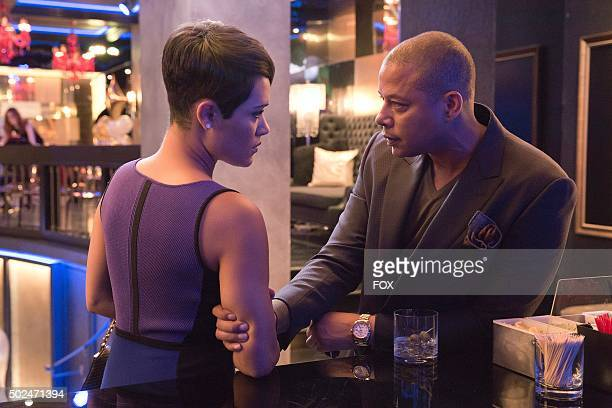 Grace Gealey as Anika and Terrence Howard as Lucious Lyon in the Fires Of Heaven episode of EMPIRE airing Wednesday, Oct. 7 on FOX.