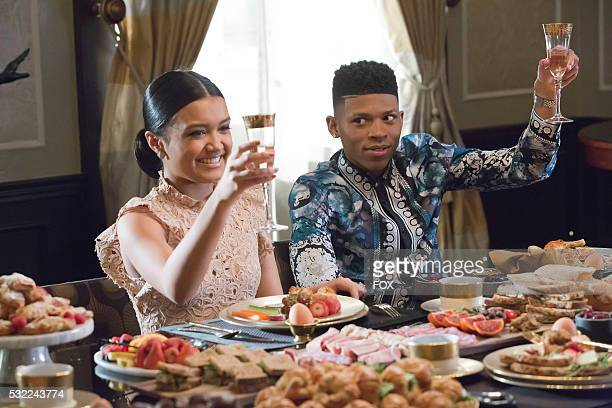 Pictured LR Guest star Jamila Velazquez and Bryshere Gray in the 'Past is Prologue' season finale episode of EMPIRE airing Wednesday May 18 on FOX