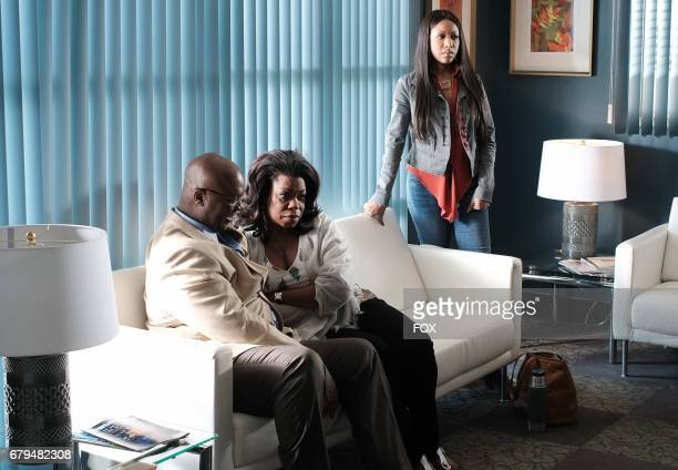 Pictured LR Guest star Robert Ray Wisdom Lorraine Toussaint and Gabrielle Dennis in the 'Caliphoridae Count' episode of ROSEWOOD airing Wednesday...