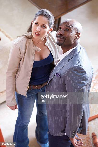 "Pictured L-R: Jaina Lee Ortiz as Detective Annalise Villa and Morris Chestnut as Dr. Beaumont Rosewood, Jr. In the ""Have-Nots and Hematomas"" episode..."