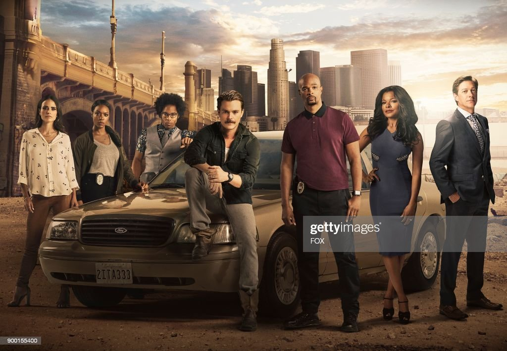 Jordana Brewster, Michelle Mitchenor, Johnathan Fernandez, Clayne Crawford, Damon Wayans, Keesha Sharp and Kevin Rahm on Season Two of LETHAL WEAPON premiering Tuesday, Sept. 26 (8:00-9:00 PM ET/PT) on FOX.