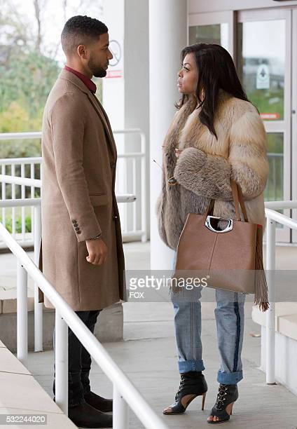 Pictured LR Jussie Smollett and Taraji P Henson in the 'Death Will Have His Way' spring premiere episode of EMPIRE airing Wednesday March 30 on FOX
