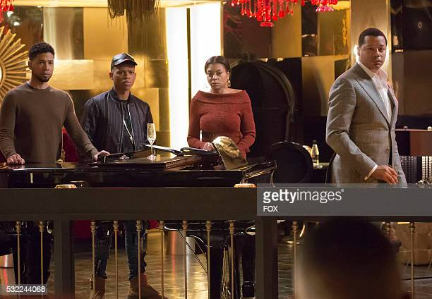 Pictured LR Jussie Smollett Bryshere Gray Taraji P Henson and Terrence Howard in the 'The Lyon Who Cried Wolf' episode of EMPIRE airing Wednesday May...