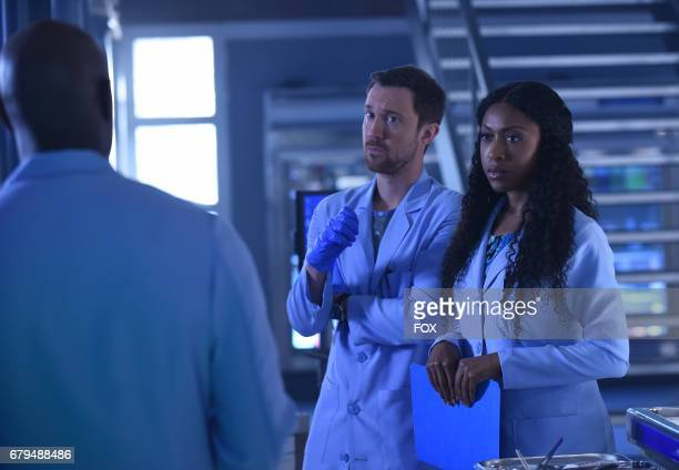 Pictured LR Morris Chestnut Sam Huntington and Gabrielle Dennis in the 'Amparo American Dream' episode of ROSEWOOD airing Friday April 21 on FOX