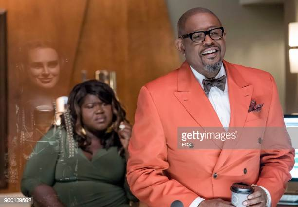 Pictured LR Rumer Willis Gabourey Sidibe and guest star Forest Whitaker in the 'The Lady Doth Protest' episode of EMPIRE airing Wednesday Nov 29 on...