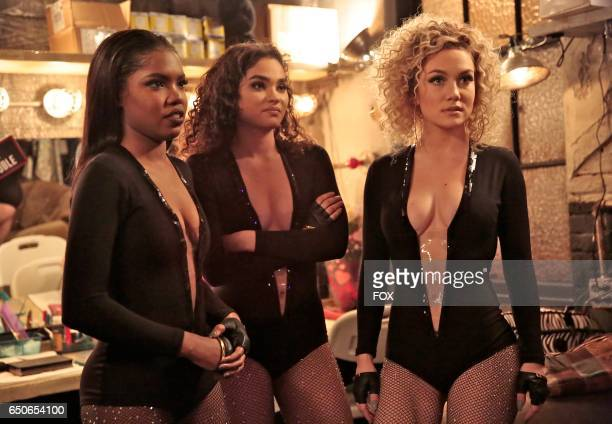 Pictured LR Ryan Destiny Brittany O'Grady and Jude Demorest in the 'Showtime' season finale episode of STAR airing Wednesday March 15 on FOX