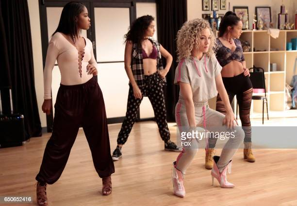 Pictured LR Ryan Destiny Brittany O'Grady Jude Demorest and guest star Sharlene Taule in the 'Boy Trouble' episode of STAR airing Wednesday March 1...