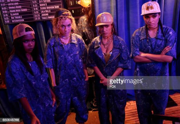 Pictured LR Ryan Destiny Jude Demorest guest star Sharlene Taule and Brittany O'Grady in the 'Boy Trouble' episode of STAR airing Wednesday March 1...