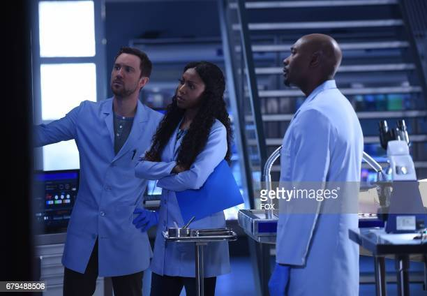 Pictured LR Sam Huntington Gabrielle Dennis and Morris Chestnut in the 'Amparo American Dream' episode of ROSEWOOD airing Friday April 21 on FOX