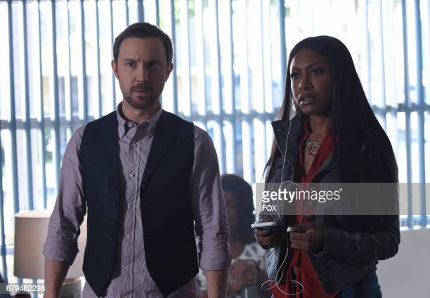 Pictured LR Samuel Huntington and Gabrielle Dennis in the 'Caliphoridae Count' episode of ROSEWOOD airing Wednesday April 4 on FOX