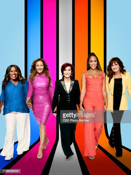 Pictured L-R: Sheryl Underwood, Carrie Ann Inaba, Sharon Osbourne, Eve Cooper, and Marie Osmond, hosts of the CBS series THE TALK, airing Weekdays...