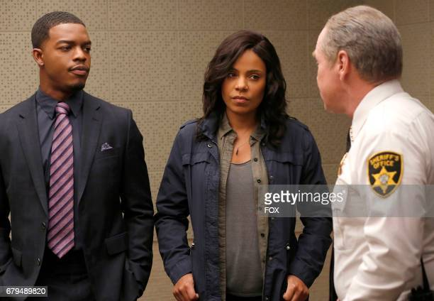Pictured LR Stephan James Sanaa Lathan and Will Patton in the 'The Fire This Time' episode of SHOTS FIRED airing Wednesday April 26 on FOX