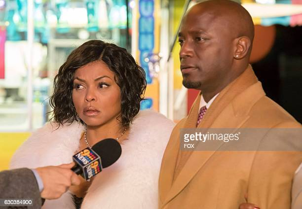 Pictured LR Taraji P Henson and guest star Taye Diggs in the 'A Furnace For your Foe' fall finale episode of EMPIRE airing Dec 14 on FOX