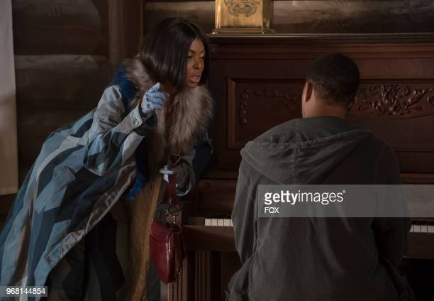 Pictured LR Taraji P Henson and Trai Byers in the 'Birds in the Cage' Spring premiere episode of EMPIRE airing Wednesday March 28 on FOX