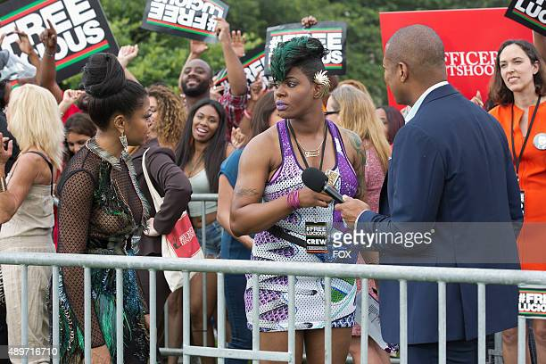 Pictured LR Taraji P Henson as Cookie Lyon Ta'Rhonda Jones as Porsha and guest star Don Lemon in the The Devils Are Here Season Two premiere episode...