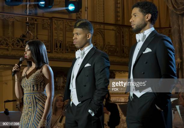 Pictured LR Taraji P Henson Bryshere Gray and Jussie Smollett in the Slave to Memory episode of EMPIRE airing Wednesday Dec 13 on FOX