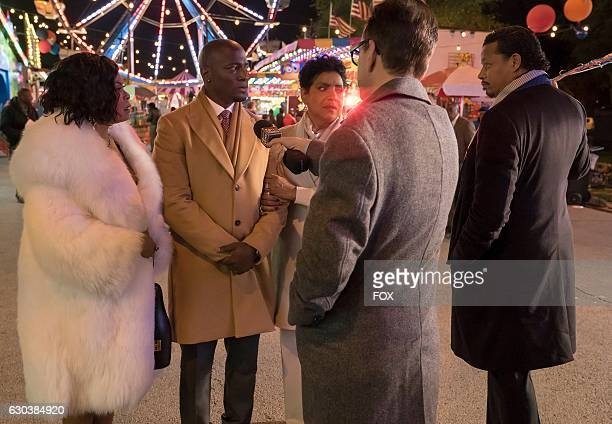 Pictured LR Taraji P Henson guest stars Taye Diggs Phylicia Rashad and Terrence Howard and in the 'A Furnace For your Foe' fall finale episode of...