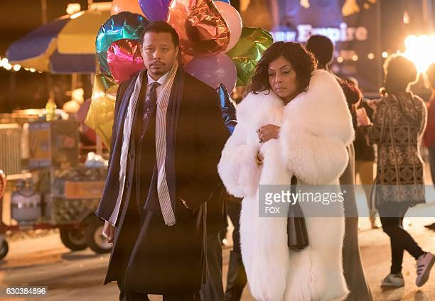 Pictured LR Terrence Howard and Taraji P Henson in the 'A Furnace For your Foe' fall finale episode of EMPIRE airing Dec 14 on FOX