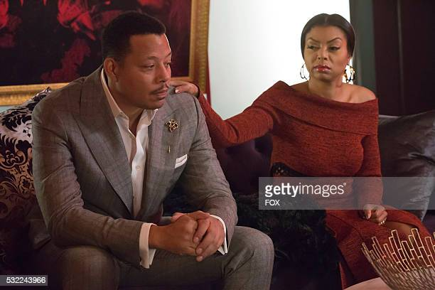 Pictured LR Terrence Howard and Taraji P Henson in the 'The Lyon Who Cried Wolf' episode of EMPIRE airing Wednesday May 4 on FOX