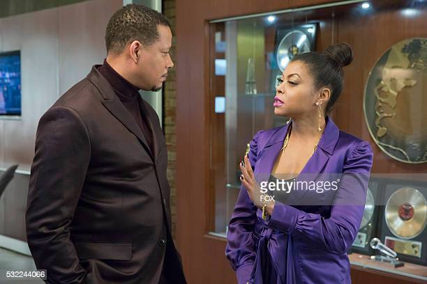 Pictured LR Terrence Howard and Taraji P Henson in the 'Time Shall Unfold' episode of EMPIRE airing Wednesday April 20 on FOX