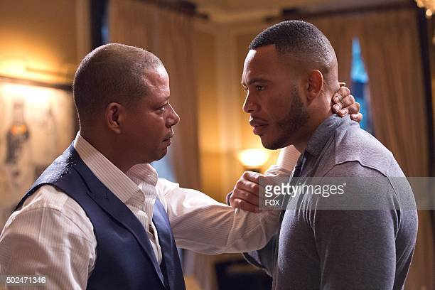 Pictured LR Terrence Howard as Lucious Lyon and Trai Byers as Andre Lyon in the Fires Of Heaven episode of EMPIRE airing Wednesday Oct 7 on FOX