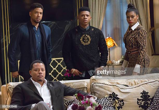 Pictured LR Terrence Howard Jussie Smollett Bryshere Gray and Taraji P Henson in the 'Time Shall Unfold' episode of EMPIRE airing Wednesday April 20...