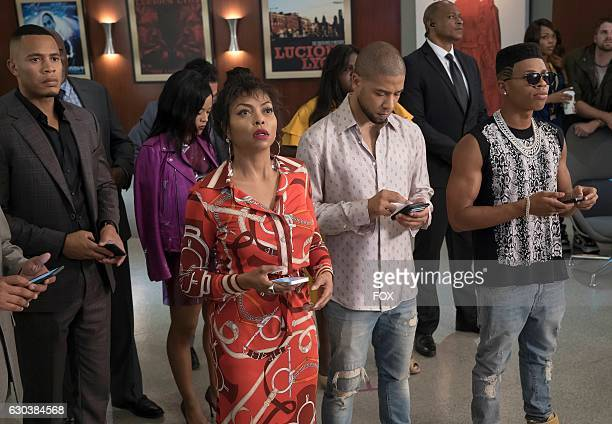 Pictured LR Trai Byers Serayah McNealTaraji P Henson Jussie Smollett and Bryshere Gray in the 'Chimes at Midnight' episode of EMPIRE airing Wednesday...
