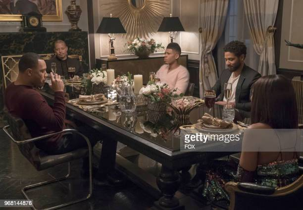 Pictured LR Trai Byers Terrence Howard Bryshere Gray Jussie Smollett and Taraji P Henson in the 'Without Apology' episode of EMPIRE airing Wednesday...
