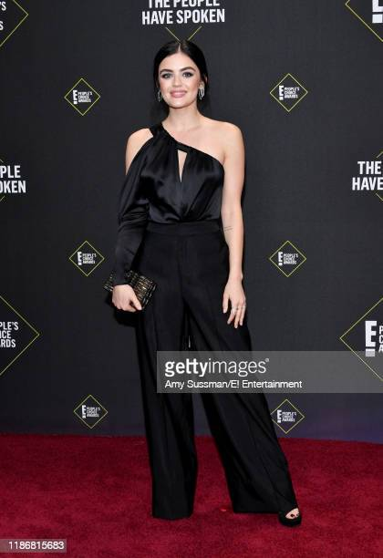 Lucy Hale arrives to the 2019 E People's Choice Awards held at the Barker Hangar on November 10 2019 NUP_188989