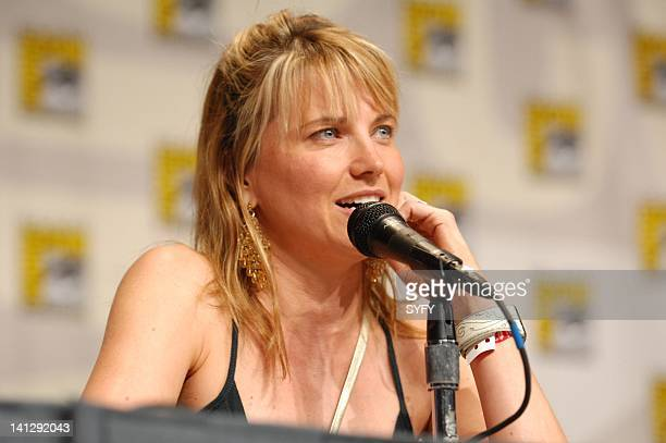 Pictured: Lucy Lawless during the Battlestar Galactica panel at the 2007 Comic-Con Convention in San Diego, Ca -- Photo by: Ken Jacques/SCI FI...