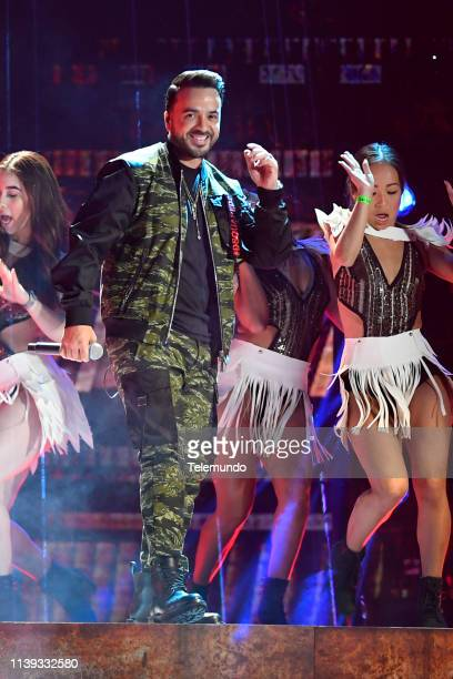 Luis Fonsi performs during rehearsals at the Mandalay Bay Resort and Casino in Las Vegas NV on April 24 2019
