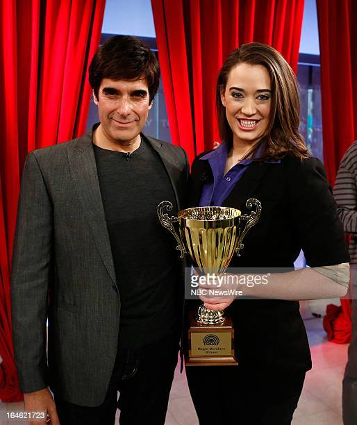 Magicians David Copperfield and Kayla Drescher appear on NBC News' Today show