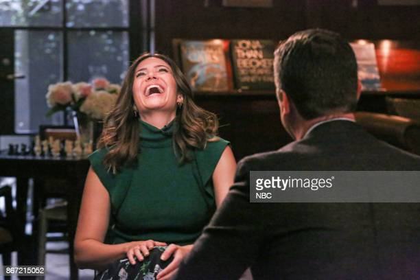Pictured: Mandy Moore during an interview with host Willie Geist on October 10, 2017 --