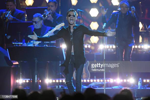 Pictured: Marc Anthony performs at the Mandalay Bay Resort and Casino in Las Vegas, NV on April 25, 2019 --