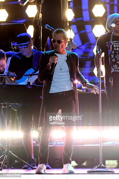 Marc Anthony performs during rehearsals at the Mandalay Bay Resort and Casino in Las Vegas NV on April 24 2019
