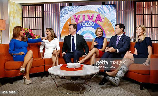 Maria Celeste Natalie Morales Willie Geist Dylan Dreyer Carson Daly and Kate Snow appear on NBC News' Today show