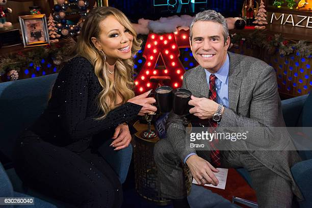 Mariah Carey and Andy Cohen