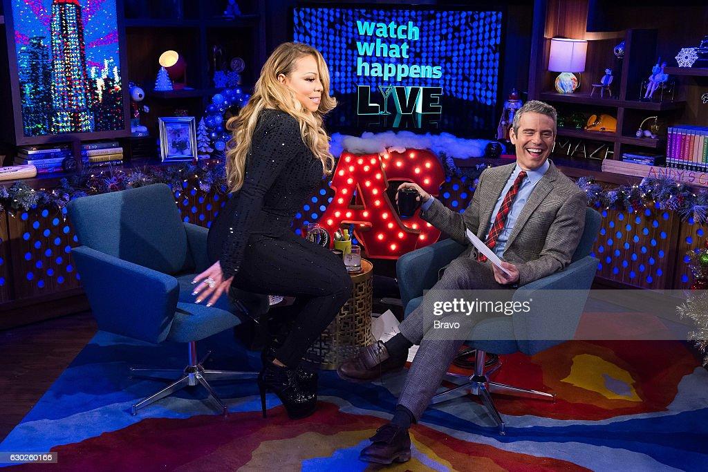 Mariah Carey and Andy Cohen --